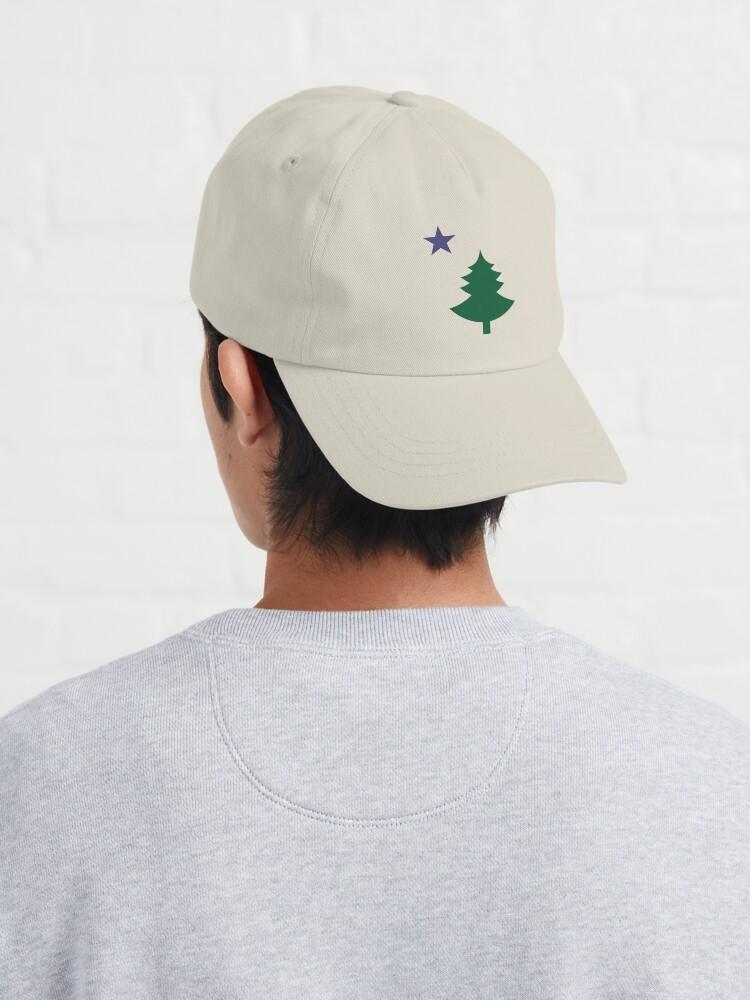 Alternate view of Old Maine State Flag Hat Original Flag Pine Tree Star Dad Hat Cap