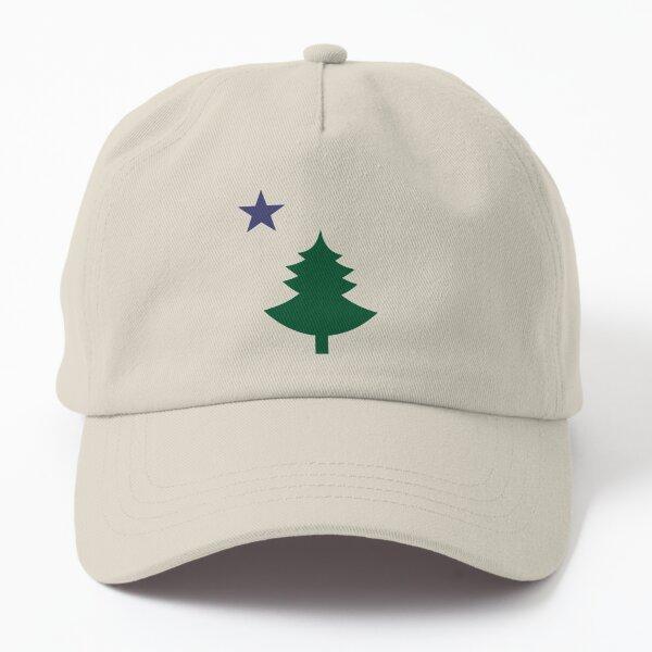 Old Maine State Flag Hat Original Flag Pine Tree Star Dad Hat Dad Hat