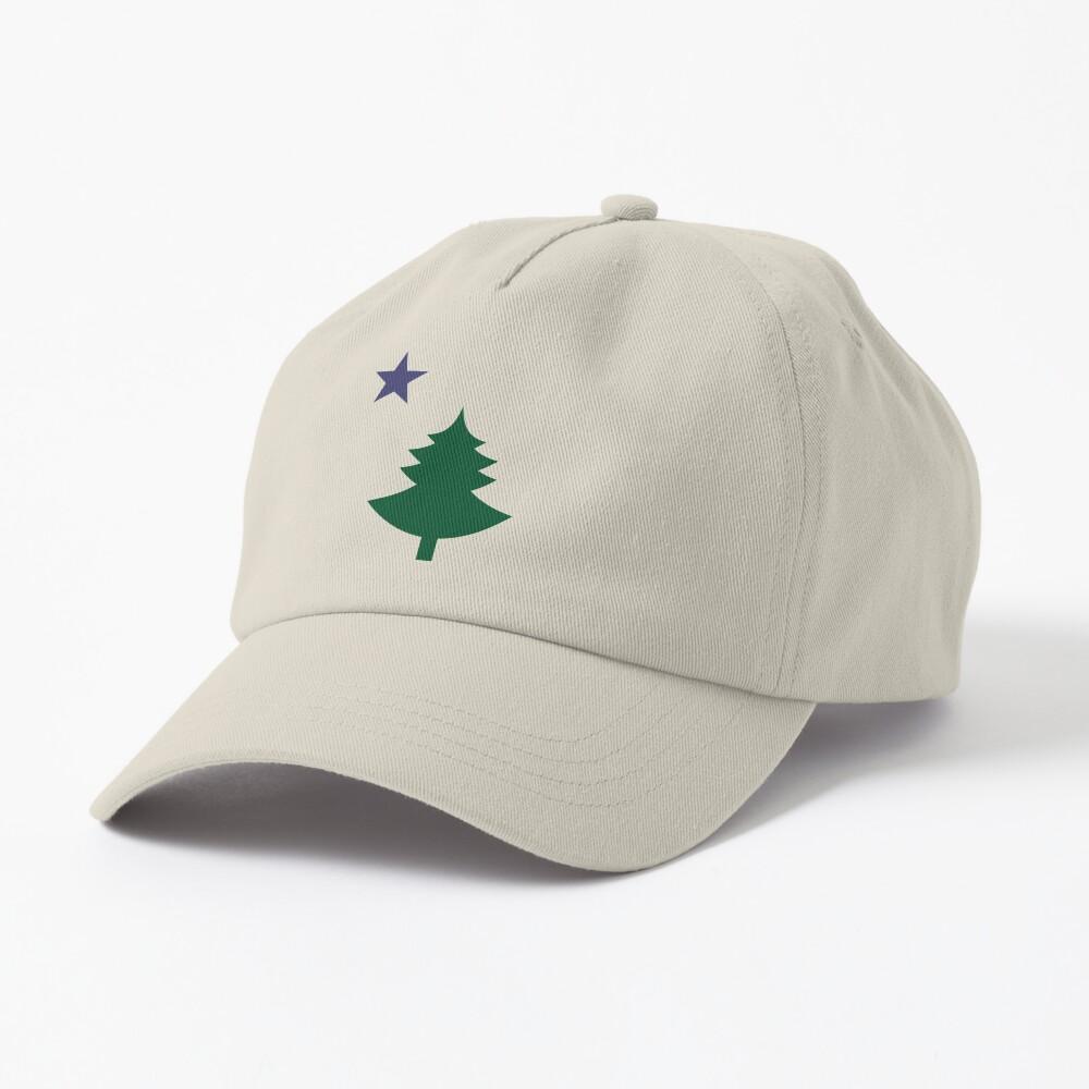 Old Maine State Flag Hat Original Flag Pine Tree Star Dad Hat Cap