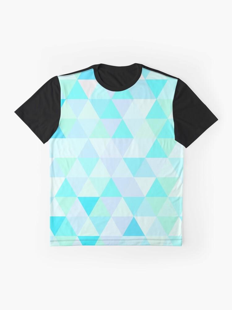 Alternate view of Triangular Blue Graphic T-Shirt