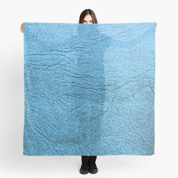 Blue Leather  Scarf