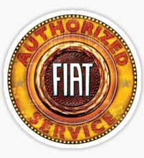 Fiat Authorized service sign Sticker