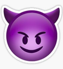 Emoji Evil Sticker
