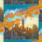 New York City Sunset Empire State Building by RD Riccoboni by RDRiccoboni