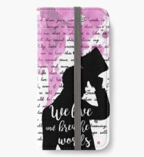 We live and breathe words  iPhone Wallet/Case/Skin
