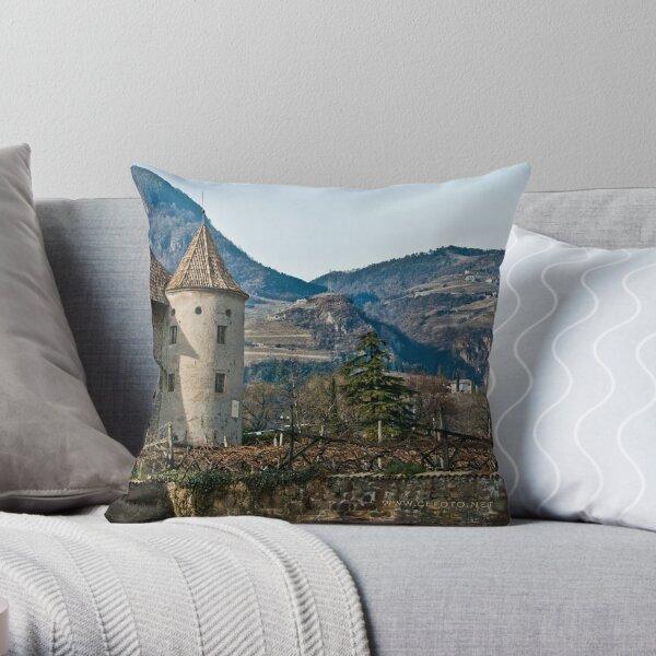 Schloss Maretsch (Castello Mareccio), Bolzano/Bozen, Italy Throw Pillow