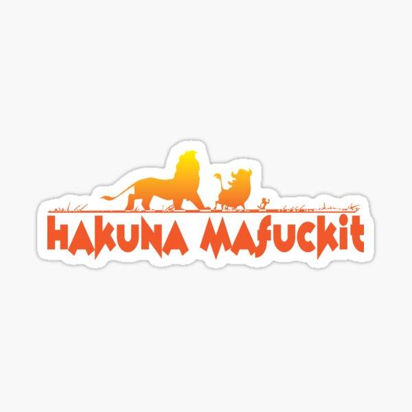 Hakuna Matata - a la mierda Pegatina