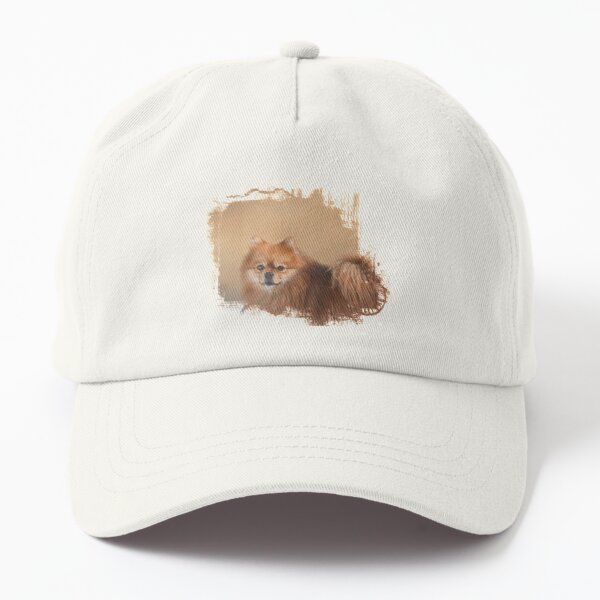 Brown Pomeranian Dog Dad Hat