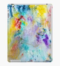Vibrant Rainbow colored Abstract with Glitter iPad Case/Skin