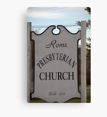 Church Sign, Holmes County, Ohio. Canvas Print