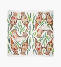 Five Otters – Green Seaweed Scarf