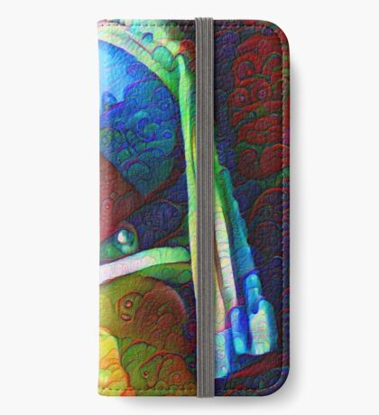 "DeepDreamed ""Girl with a Pearl Earring"" iPhone Wallet"