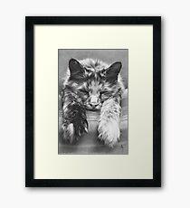 CREAM CRACKERED Framed Print