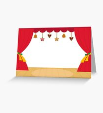 Decorated Theatre red background / beautiful and original  Greeting Card