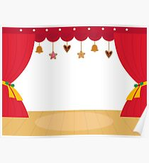 Decorated Theatre red background / beautiful and original  Poster