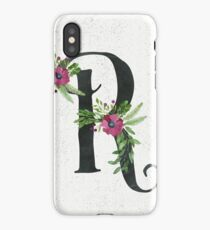 Letter R with Floral Wreaths iPhone Case/Skin