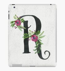 Letter R with Floral Wreaths iPad Case/Skin