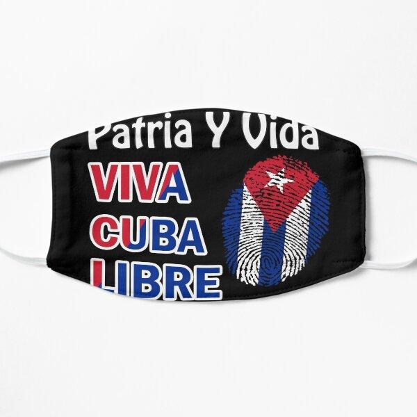 PATRIA Y VIDA VIVA CUBA LIBRE Mascarilla plana