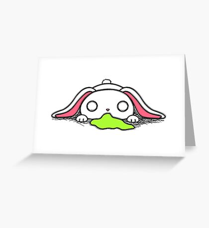 Frothie Bunny Greeting Card