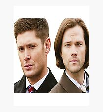 Supernatural - Sam and Dean Winchester Photographic Print