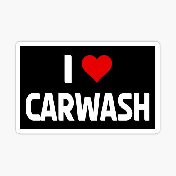 I love Carwash Heart Car Detailler Polisher Car Polish Car Lover Gift Sticker