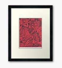 Green Red Framed Print