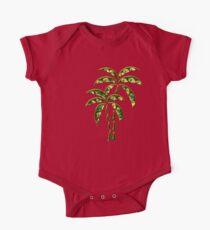 Palm Tree, Tattoo Style, Beach, Surf, Playa,  Baby Body Kurzarm