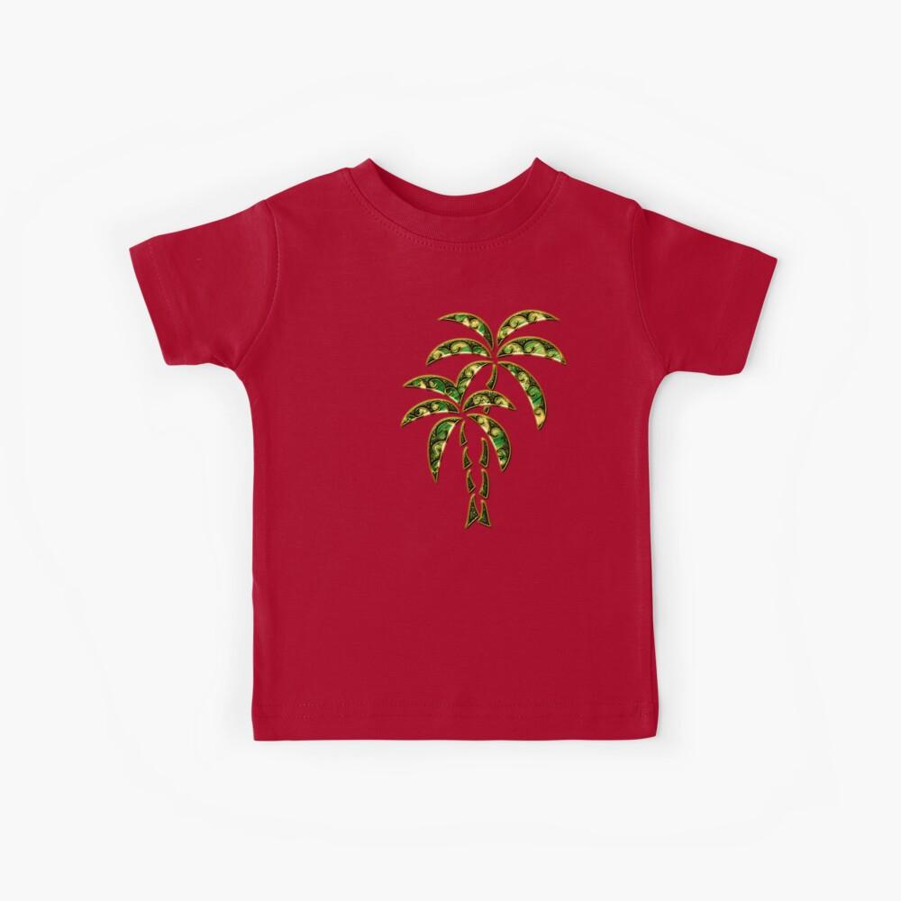 Palm Tree, Tattoo Style, Beach, Surf, Playa,  Kinder T-Shirt