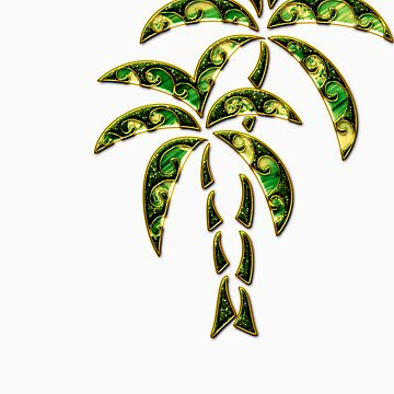 Palm Tree, Tattoo Style, Beach, Surf, Playa,  de boom-art