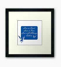 LOVE is SWEET. Stickers, Gifts, and Clothing. Framed Print
