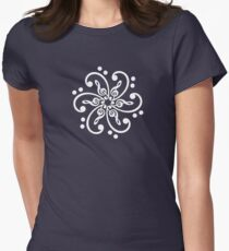 Bass & Treble Clef, Mandala, Music, Musician, Classical, Dance Womens Fitted T-Shirt