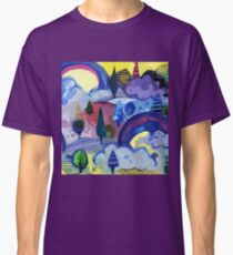 Dreamland - Landscape with Rainbows by Cecca Designs Classic T-Shirt