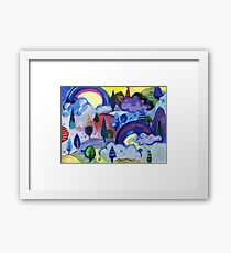 Dreamland - Landscape with Rainbows by Cecca Designs Framed Print