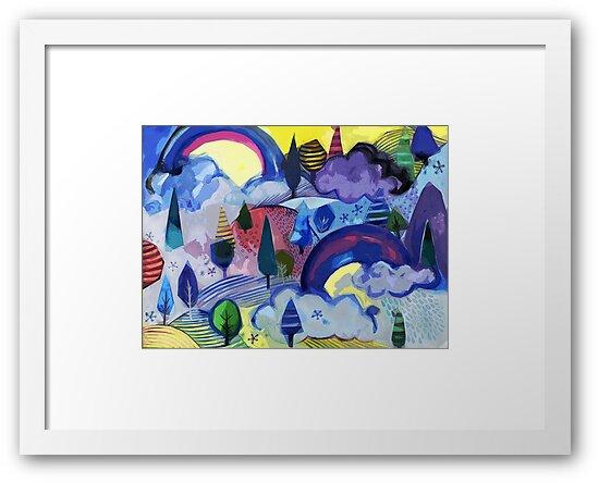 Dreamland - Landscape with Rainbows by Cecca Designs by Cecca-Designs