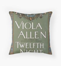 Performing Arts Posters Viola Allen as Viola in Shakespeares comedy Twelfth night 1397 Throw Pillow