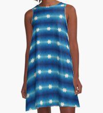 Blue Calera A-Line Dress