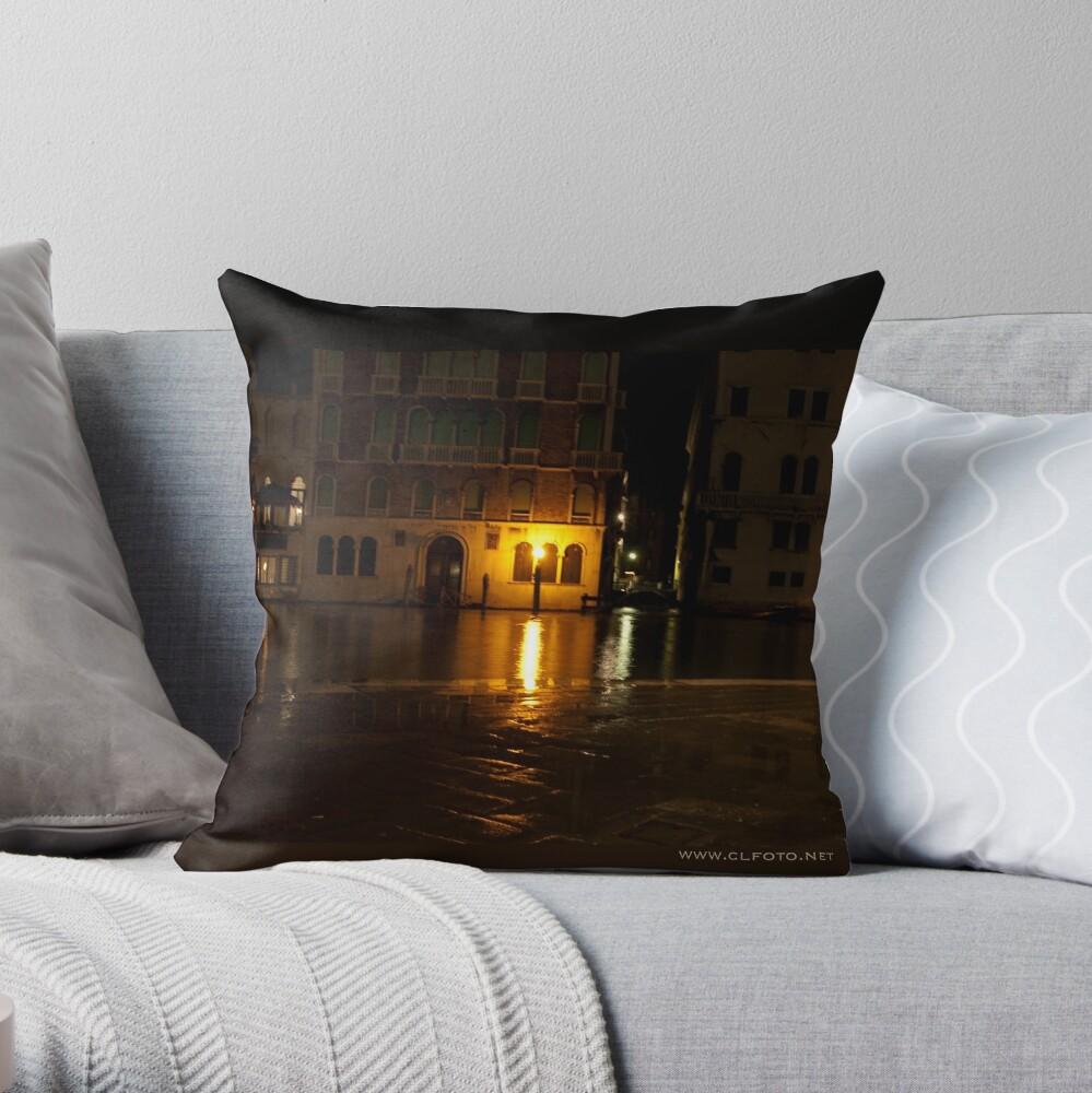 Near the Rialto Bridge, Venice, Italy Throw Pillow