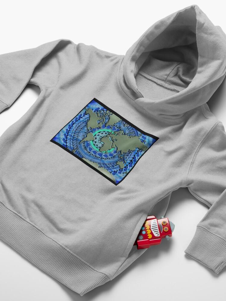 Alternate view of World Oceans Mandala Toddler Pullover Hoodie