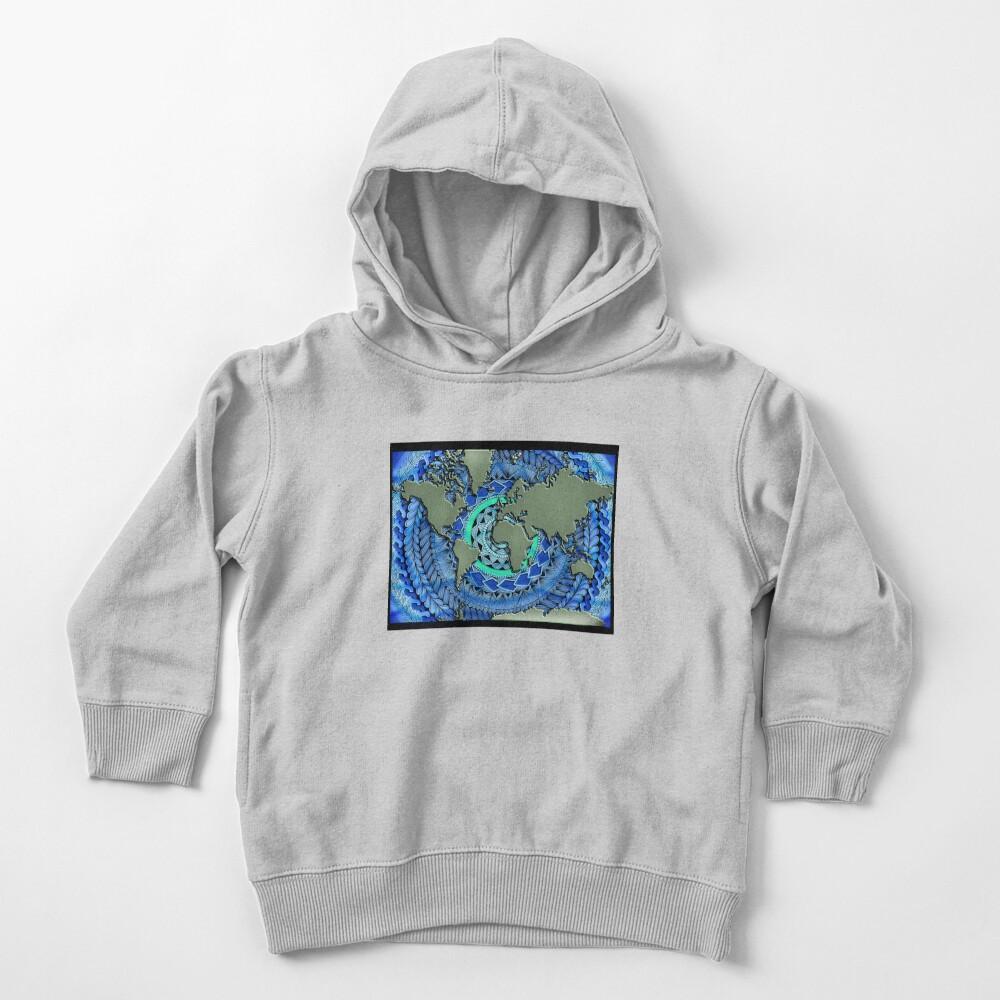 World Oceans Mandala Toddler Pullover Hoodie