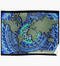 World Oceans Mandala Poster