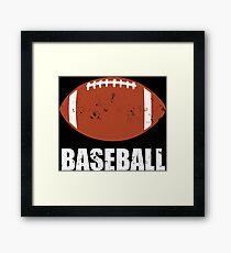 Football Baseball Troll Framed Print