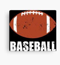 Football Baseball Troll Canvas Print