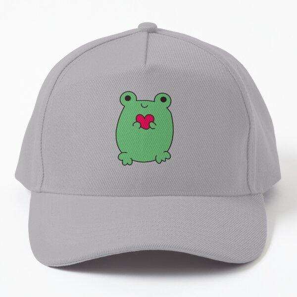 kawaii frog, cute frog with love Baseball Cap