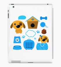 Cute nice Dogs for little Kids : blue design Edition iPad Case/Skin