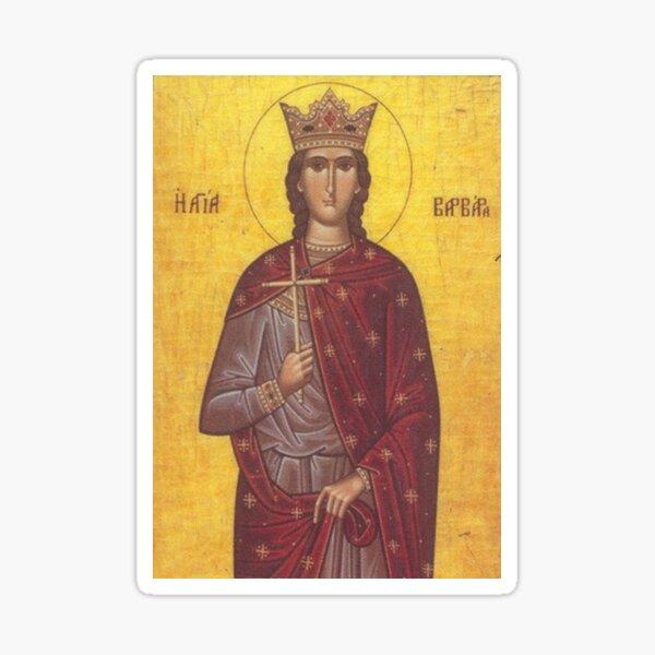 Saint Barbara Icon Sticker