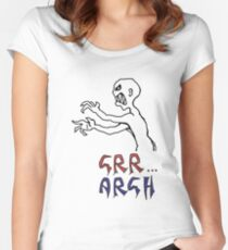 grr...argh with colour Women's Fitted Scoop T-Shirt