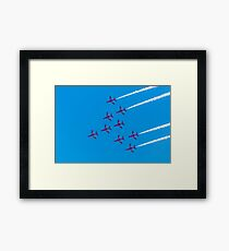 The Red Arrows. Framed Print