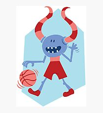 Funny Monster with Ball Photographic Print