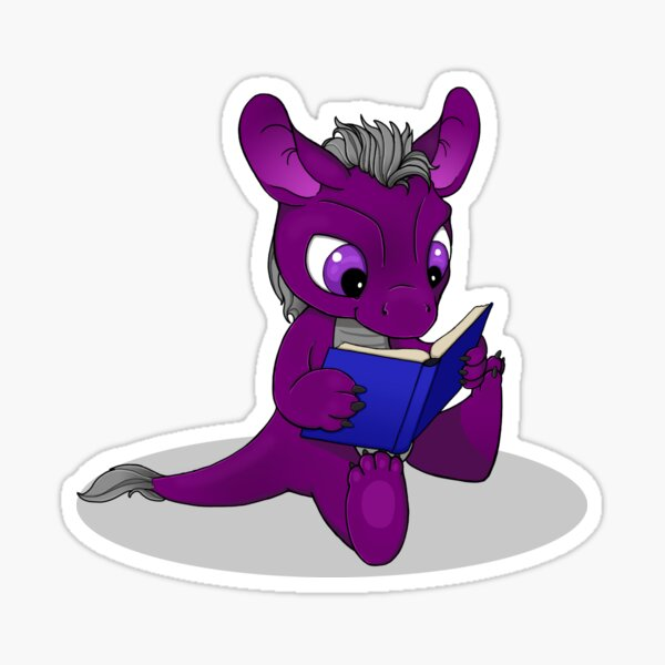 Perse Lectio, the little ACE dragon Sticker