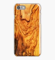 olive tree wood texture iPhone Case/Skin